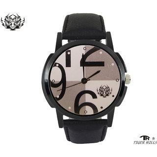 Tigerhills  Watch Round Strap Dark black Model No-T57175