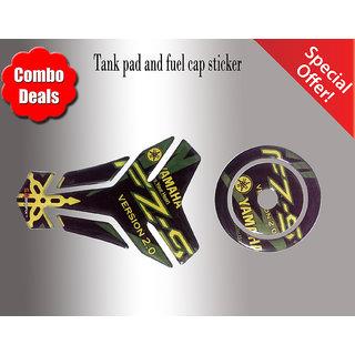 COMBO FZ-S Yamaha Customize Vinyl Tank Pad fuel cap Green
