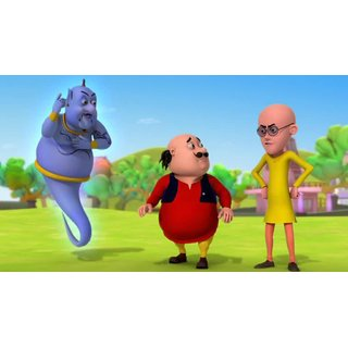 Buy Myimage Motu Patlu And Genie Poster Canvas Cloth Print 31cm X