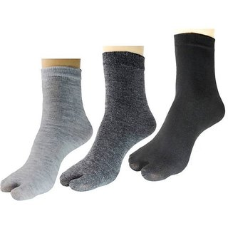 DDH Women Solid Ankle Length Socks  (Pack of 3)