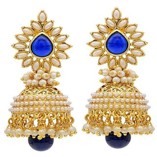 Jewels Gehna Alloy Party Wear  Wedding Latest Jhumki Earring Set For Women  Girls