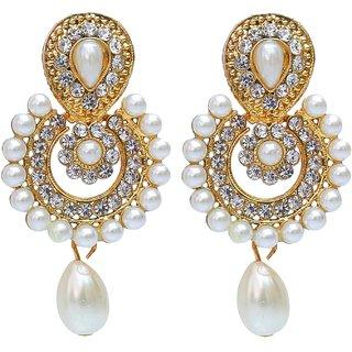 Lucky Jewellery White Stud Pearl Partywear Earring