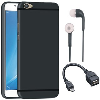 Vivo Y55L Sleek Design Back Cover with Earphones and OTG Cable