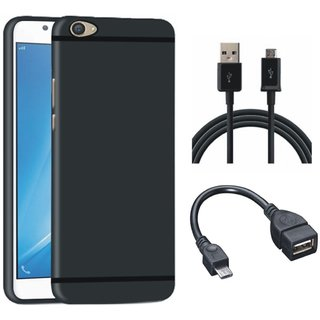 Vivo Y55L Stylish Back Cover with OTG Cable and USB Cable