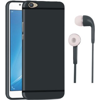 Vivo V3 Soft Silicon Slim Fit Back Cover with Earphones