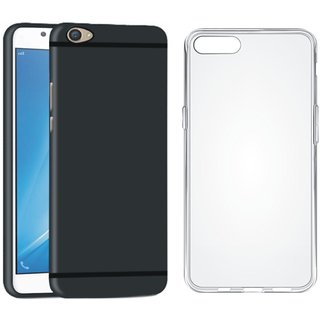 Vivo Y55L Back Cover with Silicon Back Cover, Free Silicon Back Cover