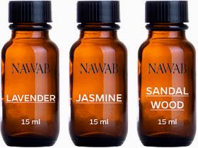 NAWAB essential aroma Diffuser oil(Lavender,Jasmine,Sandalwood-15ml each)
