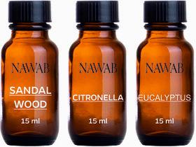NAWAN essential aroma Diffuser oil(Citronella,Eucalyptus,Sandalwood-15ml each)