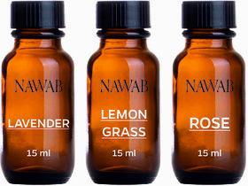 NAWAN essential aroma Diffuser oil(Lavender,Lemongrass,Rose-15ml each)
