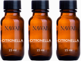 NAWAB Set of 3 Citronella essential aroma Diffuser oil(15ml each)