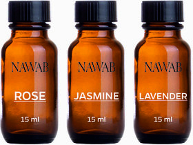 NAWAB essential aroma Diffuser oil(Lavender,Rose,Jasmine-15ml each)