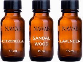 NAWAB essential aroma Diffuser oil(Citronella,Sandalwood,Lavender-15ml each)
