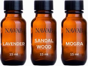 NAWAB essential aroma Diffuser oil(Lavender,Sandalwood,Mogra-15ml each)