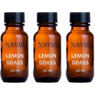 NAWAB Set of 3 Lemongrass esential aroma Diffuser oil (15ml each)