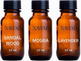 NAWAB essential aroma Diffuser oil(Sandalwood,Mogra ,Lavender-15ml each)