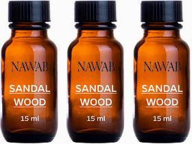 NAWAB Set of 3 Sandalwood essential aroma Diffuser oil(15ml each)