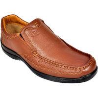 Allen Cooper Tan Men'S Leather Casual Shoes