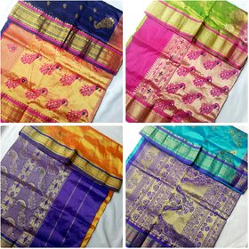 Anushka Collection Famous Yeola Semi Silk Paithani with Stone Work