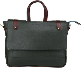 Leather Giant - 100% Pure Genuine Leather Laptop Messenger Bag