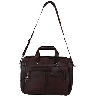 Buy Leather Giant - 100% Pure Genuine Leather Laptop Messenger Bag ... eda3a7cbe29c1