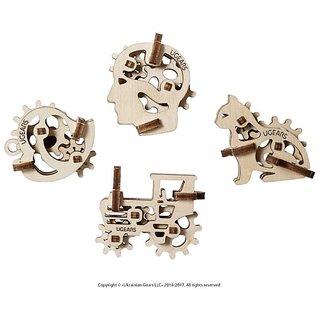 Ugears U-Fidgets-Tribike 3D Mechanical Puzzle