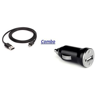 love4ride Combo For Car USB Data Cable + Car Charger