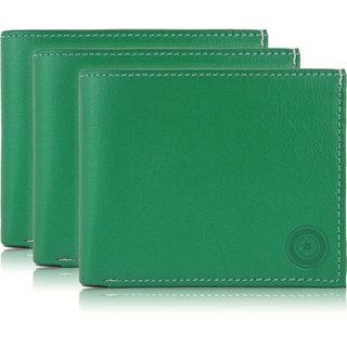 979227b9dc61 Buy POLLSTAR Green Leather Wallet For Men (WL51GN) Pack of 3 Online ...