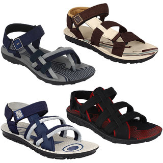 d2c774fcf3a2 Buy Armado Footwear Men Combo Pack Of 4 (Sandals Floaters) Online ...