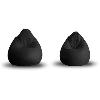 Home Story Classic Bean Bag XL Size Black Cover Only Set of 2