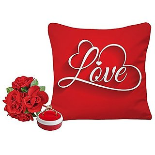 Buy Sky Trends Valentine Gift For Husband Printed Cushion Cover