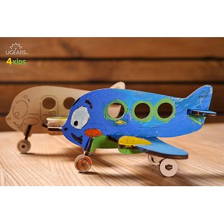 Ugears Airplane 3D Coloring Puzzle