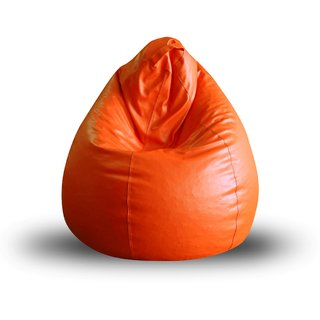 Home Story Classic Bean Bag XL Size Orange Cover Only Set of 2