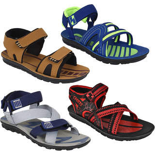 db93757d02ae Buy Armado Footwear Men Combo Pack Of 4 (Sandals Floaters) Online ...