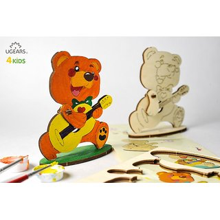 Ugears Teddy Bear 3D Coloring Puzzle