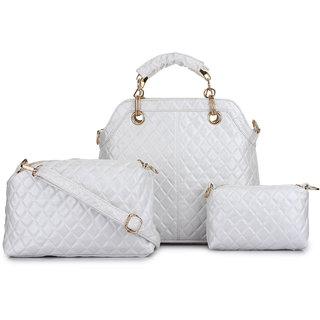 e1d3e9993461 Buy Zornna Stylish Silver Handbag Online - Get 30% Off