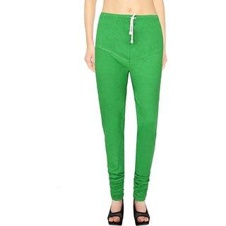 Ruby Parrot Green Cotton Lycra Leggings