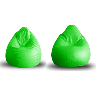 Home Story Classic Bean Bag XL Size Green Cover Only Set of 2