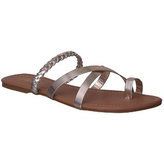 f1e5deb04 Buy Flora Golden Flat Sandal For Women Online - Get 43% Off