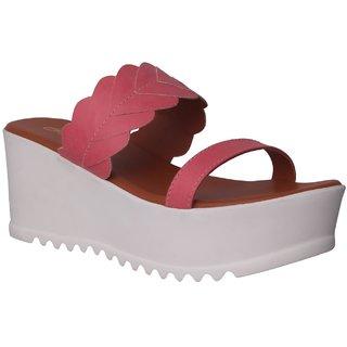 Flora Pink Wedges Sandal