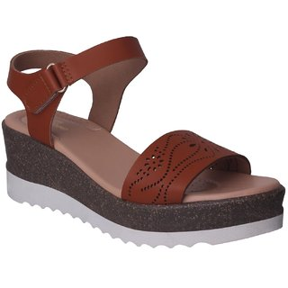 Flora Tan Sandal For Women