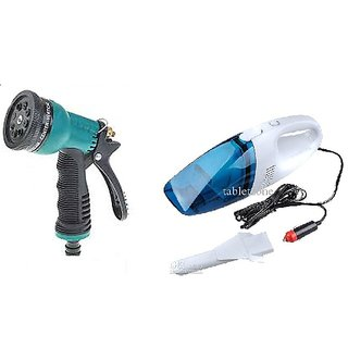 love4ride Combo for Car Vacuum Cleaner + 8 pattern water spray gun