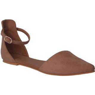 Flora Cream Pointed Flat Sandal For Women