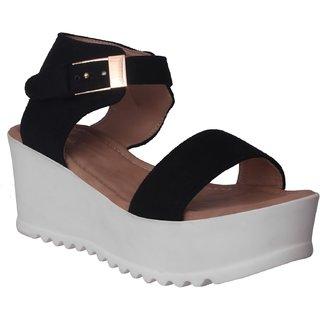 539edfa87012 Buy Flora Black Wedges Sandal Online - Get 52% Off