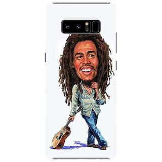 Samsung Galaxy note 8 Black Hard Printed Case Cover by HACHI - Bob Marley design