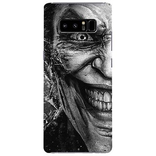 Samsung Galaxy note 8 Black Hard Printed Case Cover by HACHI - Joker Fans design