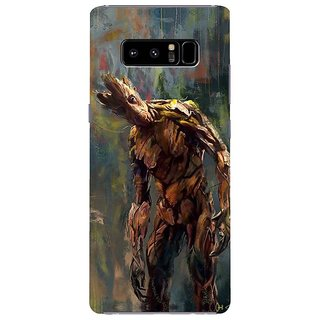 Samsung Galaxy note 8 Black Hard Printed Case Cover by HACHI - Monsters design