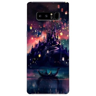 Samsung Galaxy note 8 Black Hard Printed Case Cover by HACHI - Tangled Fans design