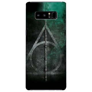 Samsung Galaxy note 8 Black Hard Printed Case Cover by HACHI - Harry Potter Fans design