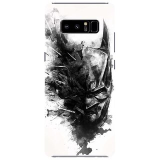 Samsung Galaxy note 8 Black Hard Printed Case Cover by HACHI - Batman Fans design