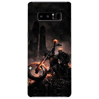 Samsung Galaxy note 8 Black Hard Printed Case Cover by HACHI - Ghost Rider design